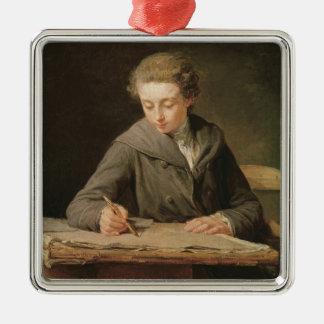 El proyectista joven, Carle Vernet, 1772 Adorno Navideño Cuadrado De Metal