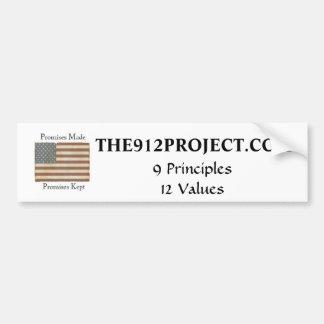 El proyecto 9-12 pegatina para auto