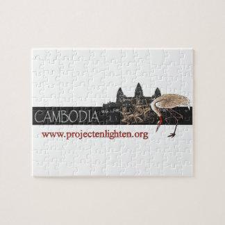 El proyecto aclara la grúa de Camboya Sarus Puzzles Con Fotos