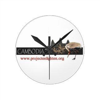 El proyecto aclara la grúa de Camboya Sarus Reloj