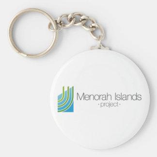 El proyecto de las islas de Menorah Llavero Redondo Tipo Pin