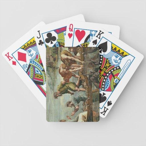 El proyecto milagroso de los pescados (dibujo anim baraja cartas de poker