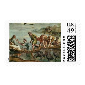 El proyecto milagroso de los pescados (dibujo timbres postales