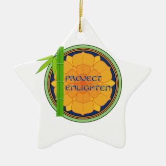 El proyecto oficial aclara mercancía adorno navideño de cerámica en forma de estrella