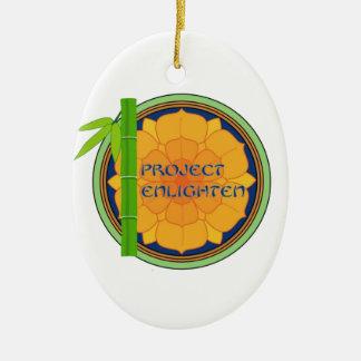 El proyecto oficial aclara mercancía adorno navideño ovalado de cerámica