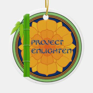 El proyecto oficial aclara mercancía adorno navideño redondo de cerámica