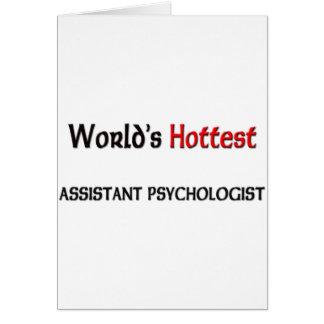 El psicólogo auxiliar más caliente de los mundos tarjeta de felicitación