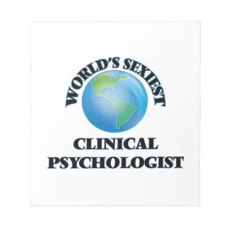 El psicólogo clínico más atractivo del mundo blocs de papel