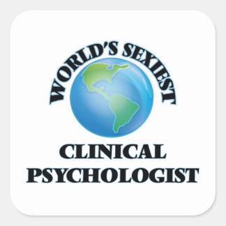 El psicólogo clínico más atractivo del mundo pegatina cuadrada