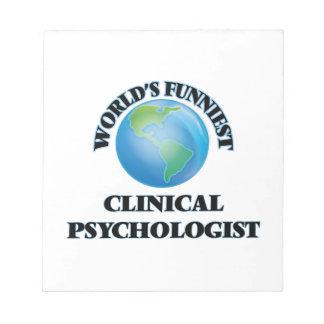 El psicólogo clínico más divertido del mundo blocs de notas