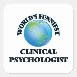 El psicólogo clínico más divertido del mundo pegatina cuadrada