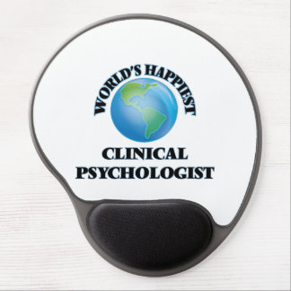 El psicólogo clínico más feliz del mundo alfombrilla de raton con gel