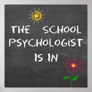 El psicólogo de la escuela está en poster póster