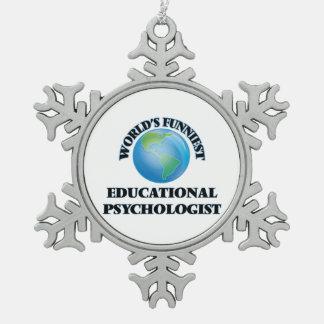 El psicólogo educativo más divertido del mundo adorno de peltre en forma de copo de nieve