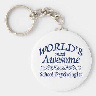 El psicólogo más impresionante de la escuela del m llavero redondo tipo pin
