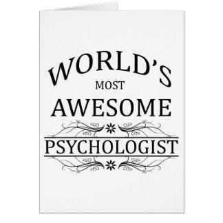 El psicólogo más impresionante del mundo tarjeta de felicitación