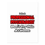 El psicólogo profesional… no intenta postal