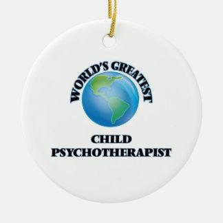 El psicoterapeuta más grande del niño del mundo ornamentos de navidad