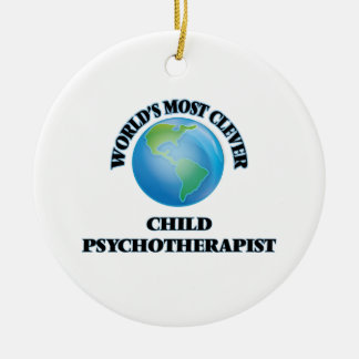 El psicoterapeuta más listo del niño del mundo ornamento para arbol de navidad