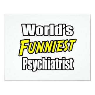 """El psiquiatra más divertido del mundo invitación 4.25"""" x 5.5"""""""