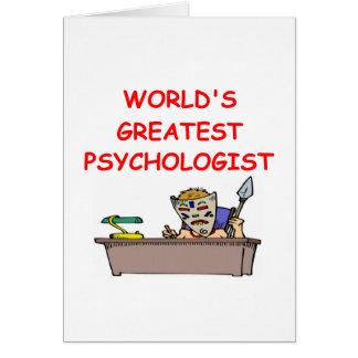 el psiquiatra más grande del mundo tarjeta de felicitación