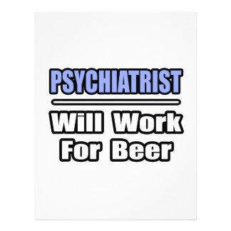 """El psiquiatra… trabajará para la cerveza folleto 8.5"""" x 11"""""""