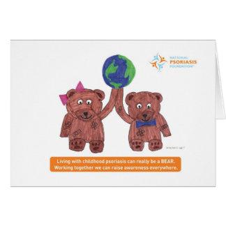 """El """"psoriasis puede ser un oso """" tarjeta pequeña"""