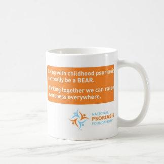 """El """"psoriasis puede ser un oso """" taza básica blanca"""