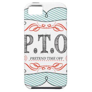 EL PTO FINGE TIEMPO APAGADO FUNDA PARA iPhone SE/5/5s