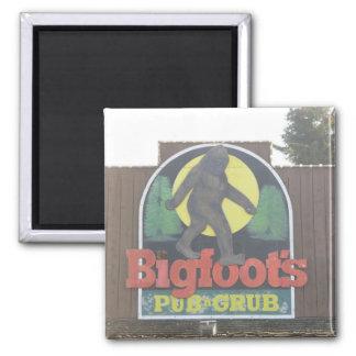 El Pub de Bigfoot y imán de la parrilla