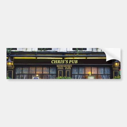 El Pub de Chris Pegatina Para Auto