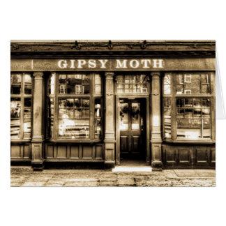 El Pub Greenwich de la polilla gitana Tarjeta De Felicitación