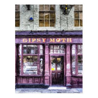 El Pub Greenwich de la polilla gitana Tarjeta Postal