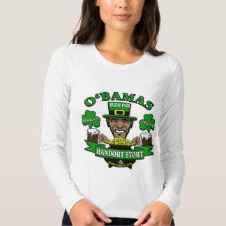 ¡El Pub irlandés 4 de Obama su fiesta social Poleras