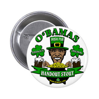 ¡El Pub irlandés 4 de Obama su fiesta social sigui Pin Redondo De 2 Pulgadas