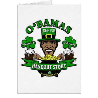 ¡El Pub irlandés 4 de Obama su fiesta social sigui Tarjeta De Felicitación
