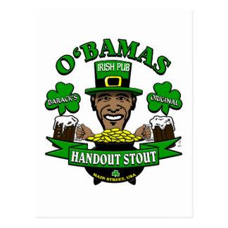 ¡El Pub irlandés 4 de Obama su fiesta social sigui Tarjetas Postales