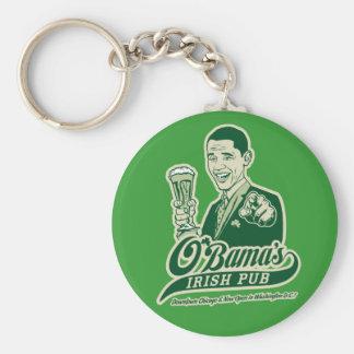 El Pub irlandés de Obama Llavero Personalizado