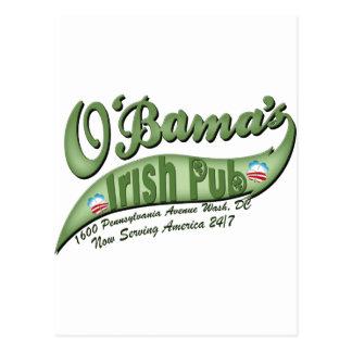 El Pub irlandés de O'bama Tarjeta Postal