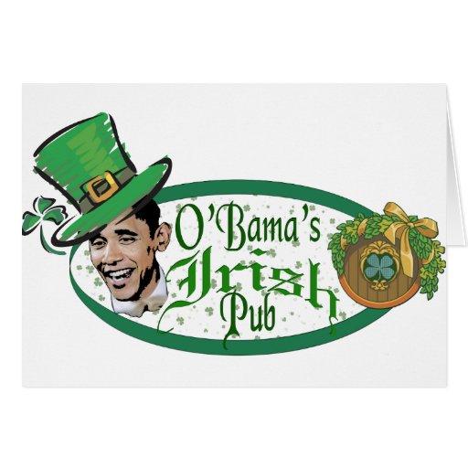 El Pub irlandés de Obama Tarjetas