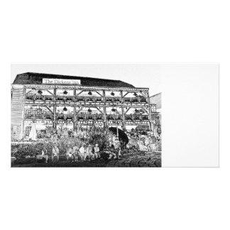 El Pub Londres del mesón de Dickens Plantilla Para Tarjeta De Foto