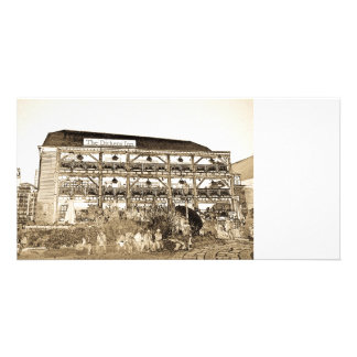 El Pub Londres del mesón de Dickens Tarjeta Con Foto Personalizada