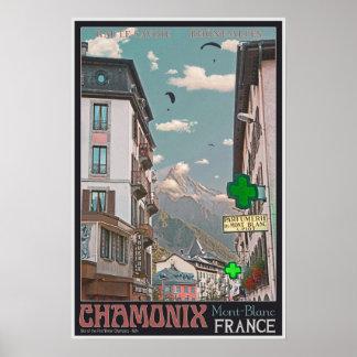 El pueblo de Chamonix - BonW Impresiones