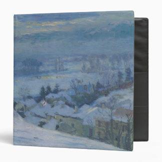 """El pueblo de Herblay debajo de la nieve, 1895 Carpeta 1 1/2"""""""