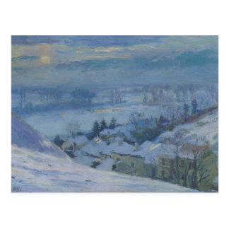El pueblo de Herblay debajo de la nieve, 1895 Postales