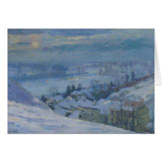 El pueblo de Herblay debajo de la nieve, 1895 Tarjeta De Felicitación