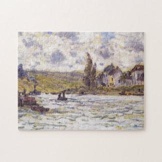 El pueblo de la bella arte de Lavacourt Monet Rompecabeza