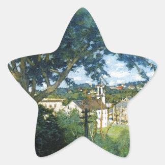 El pueblo de la fábrica por el vertedero juliano pegatina en forma de estrella