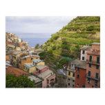 el pueblo de ladera de Manarola-Cinque Terre, Postal