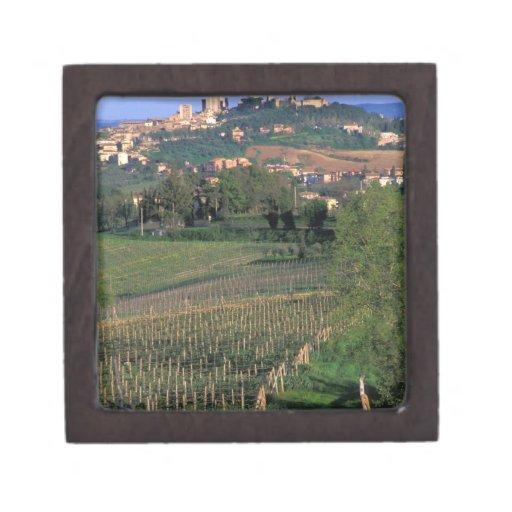 El pueblo de San Gimignano se sienta en el balance Cajas De Regalo De Calidad